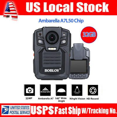 Infrared Night Vision HD 1080P Police Body Worn Video Camera Security IR 32G DVR