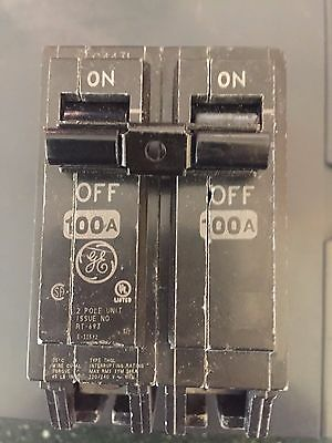 GE Q-Line THQL 100-Amp 2-Pole Double-Pole Circuit Breaker (New) (P-1)