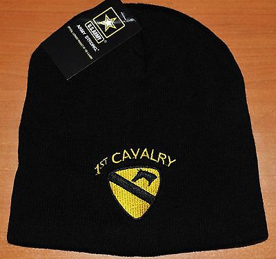 New 1St Cavalry Division Us Army Winter Beanie Knit Stocking Sock Cap Hat First