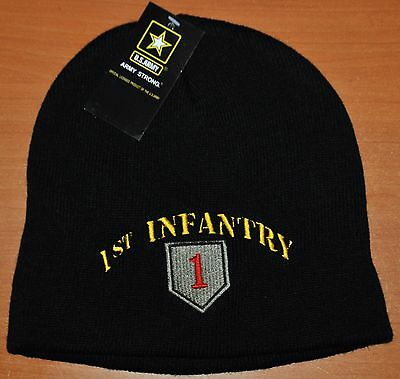 New 1St Infantry Division Us Army Winter Beanie Knit Stocking Sock Cap Hat First