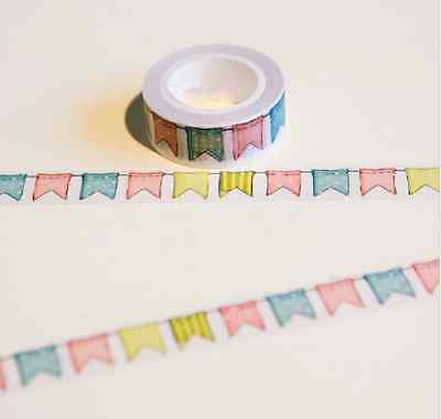 Color Flag Washi Tape DIY Decoration Scrapbooking Masking Tape Adhesive Tape CA