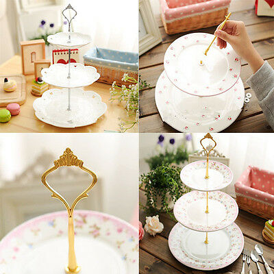 1set 3 Tier Cake Plate Stand Hardware Rod Plate Stand Handle Fitting Decor