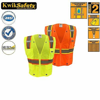 Class 2 Ultra Cool Reflective Surveyor's Safety Vest All Sizes Yellow/Orange