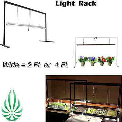 Grow Light Adjustable High Stand Rack 2/4 Feet Fo T5 Fluorescent LED HPS MH