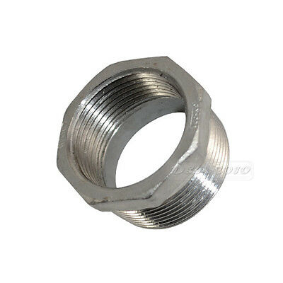"1-1/2"" Male x 1-1/4"" Female Threaded Reducer Bushing Pipe Fitting SS 304 NPT NEW"