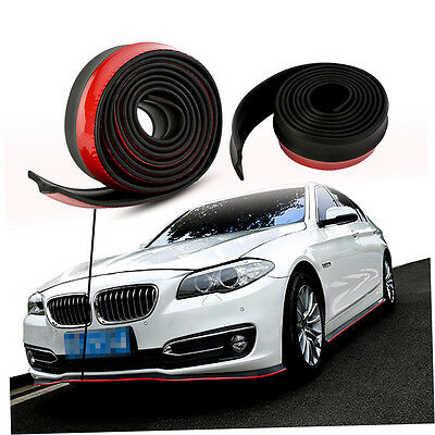 New 2.5m Car Front Bumper Spoiler Lip Splitter Valance Chin Protector Kits BY