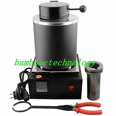Automatic Melting Furnace Melt Silver Gold Pour Bar Digital Controller2kgs Black