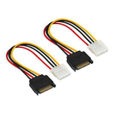15 Pin SATA Male to Molex IDE 4 Pin Female Power Adapter Extension Cable