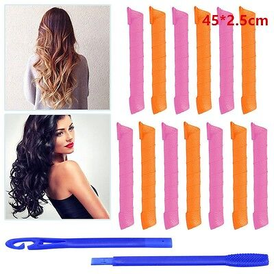 18Pcs 45CM Hair Rollers Hot DIY Curlers Large Magic Circle Spiral Styling Tools