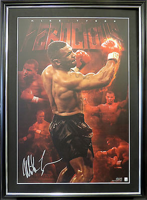 Mike Tyson Signed Framed Limited Edition Ferocious Boxing Memorabilia