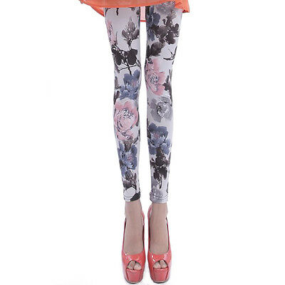 Milk Wire Leggings High Waist Trousers Seamless Flower Printed For Women Pants