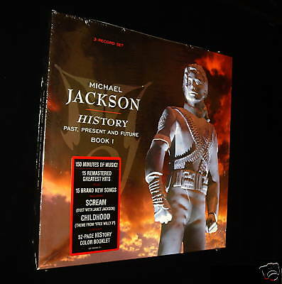 "New!! Mint Mj Michael Jackson History 3 Lp Record 1995 - ""authentic - Original"""