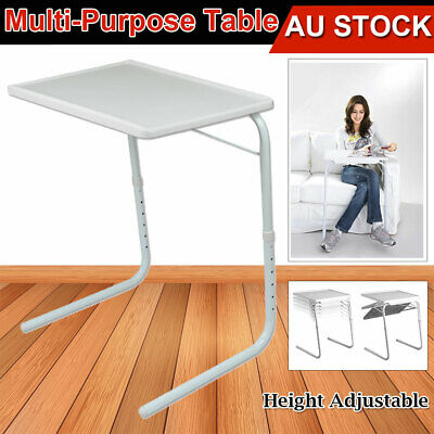 Adjustable Foldable Table Portable Folding Desk Laptop Dinner TV Bed Mate Office