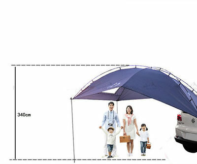 Durable 4-6 Person Portable Car Sun Shelter Canopy Tent Self-Driving outdoor cam