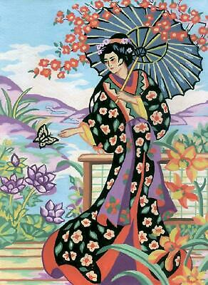 Grafitec Printed Tapestry/Needlepoint Canvas – Geisha with Parasol