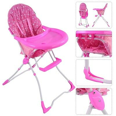 US Baby High Chair Infant Toddler Feeding Booster Seat Folding Safe Portable