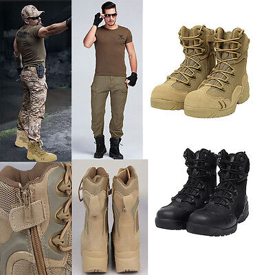 Genuine Leather Men's Outdoor Army Combat Military Desert Tactical Hiking Boots