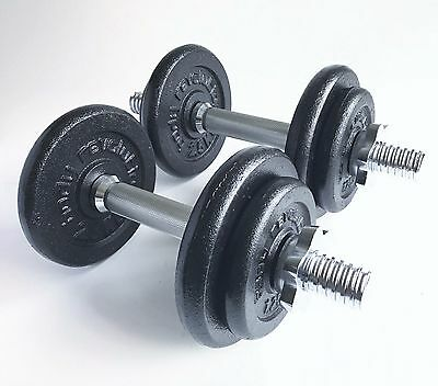 20 KG Cast Iron Dumbbell Set Dumbbells Weights Fitness Exercise Home Gym Sets