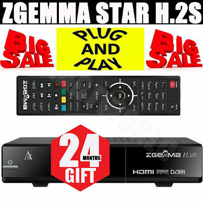 Zgemma Star H.2S Dual Core Satellite Receiver With 24 Month Support FTA BOX