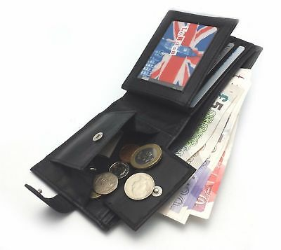 Mens Luxury Soft Quality Italian Leather Wallet, Credit Card Holder, Purse Black