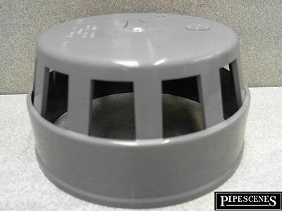 Soil Pipe 110mm Bird Cage Vent Terminal  - Grey