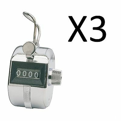 Champion Sports Baseball Pitch Tally Counter Clicker 4 Digit Display (3-Pack)