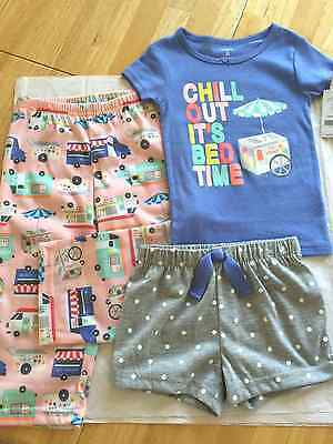CARTER/'S GIRLS 3 PIECE PAJAMA SET MULTICOLOR NWT CHILL OUT IT/'S BED TIME SPARKLY