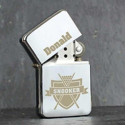 Personalised Snooker Oil Lighter