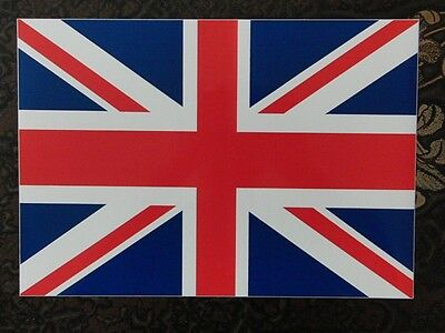 Genuine Military Vehicle Car Sticker Union Jack Flag Emblem Large 21x30 cm UK Ma