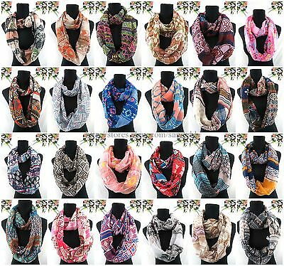 bulk lot 50pcs Wholesale vintage boho aztec tribe double loop infinity scarf
