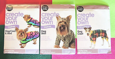 Simplicity Canine/Dog Clothes Pattern Choose Coat & Bed, Fleece Coat or Shirt
