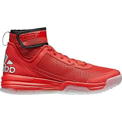 Men's Adidas Dual Threat Red Basketball Mid Cut Sneakers Shoes D69584 Size 10-14