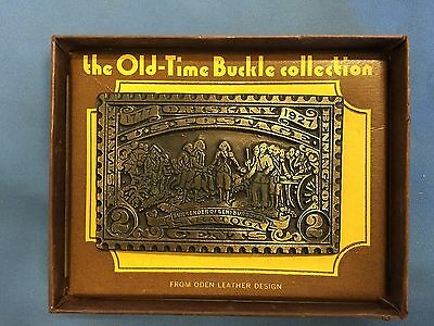 The Old Time Buckle Collection 1977-1927 U.s. Postage 2 Cents Brass Belt Buckle