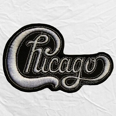 Chicago Logo Embroidered Patch Rock Band Peter Cetera Robert Lamm Terry Kath