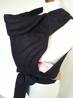 Mei Tai Baby Carrier /sling/reversible/black/leg Cut Model/100%cotton/made In Uk