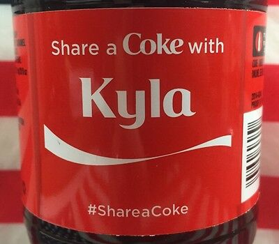 Share A Coke With Kyla Limited Edition Coca Cola Bottle 2015 USA