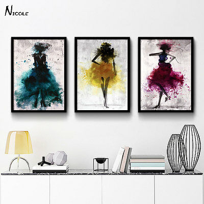 Fashion Girl - Minimalist Abstract Art Canvas Poster Painting Modern Decor FA005