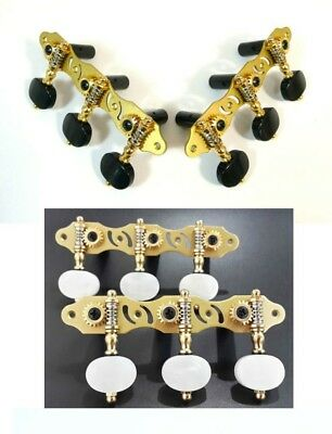 Golden color Classical Guitar Machine Heads,Tuners pegs ,306G + various buttons