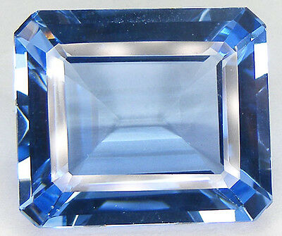 33.89Ct. Beautiful Colour Simulated Baby Swiss Blue Topaz Lab Gem