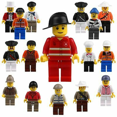 Grab Bag Lot of 16Pcs Minifigures toys Figures Men People Minifigs New For Lego