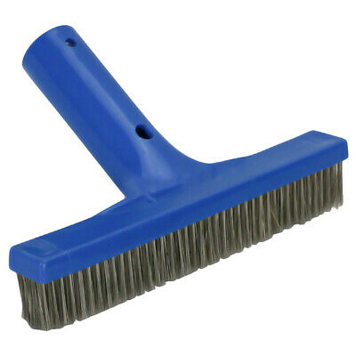 "Swimming Pool Algae Brush - Stainless - 10"" Steel Bristle - 5003050e"