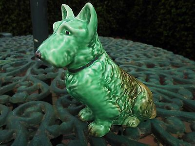 Vintage Sylvac Mac Terrier Dog Green And Brown Model 1205