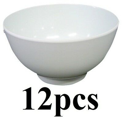 12 x Melamine Rice Bowl 13.5cm x 6cm 100% Brand New