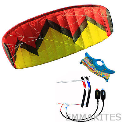 Large 5m² 4 Line Control Traction Power Kite for Kitesurfing Boarding with Tools