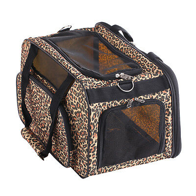 Large Folding Collapsible Pet Carrier Dog Kitty Puppy Piggy Chihuahua Travel 17