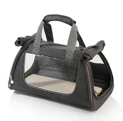 Large Folding Collapsible Pet Carrier Dog Kitty Puppy Piggy Chihuahua Travel 18