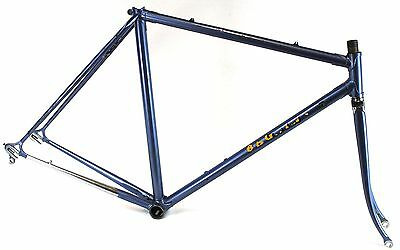 VINTAGE Race bike Lugged steel hand made in Italy Frame set Campagnolo dropouts