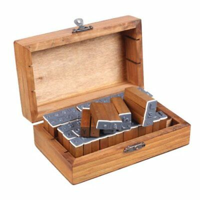 70Pcs Retro Rubber Stamps Alphabet Wooden Box Set Print Style Letters & Numbers