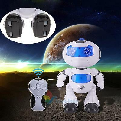 RC Robot Toy Remote Control Musical Walk Dance Lightenning Robot Xmas Gift New A