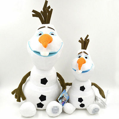 "9-18"" Olaf Snowman Anna Elsa Stuffed Figures Plush Baby Kids Soft Toy Xmas Gift"